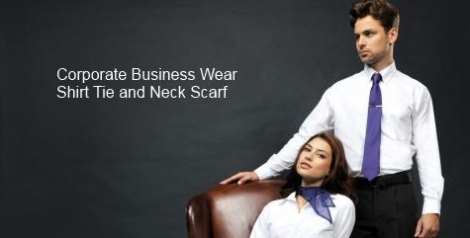 Corporate business wear shirt tie and neck scarf category