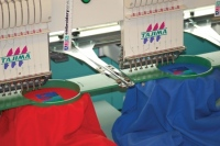 Embroidery machines of County Sports and Schoolwear, a leading supplier of school uniform, sportswear, workwear, equestrian and casual country clothing