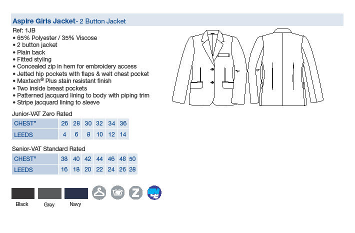 St Clare's Sixth Form Uniform | Ladies 6th Form Suit Jacket