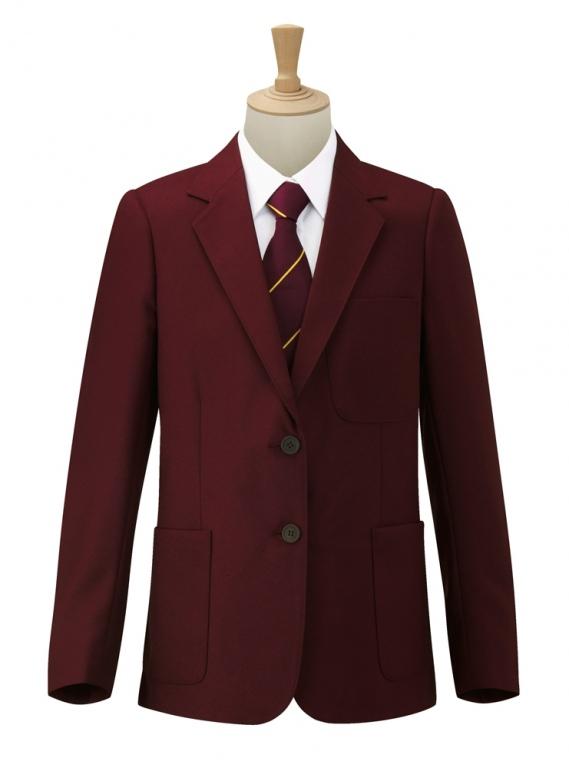 Girls black school coat-3688