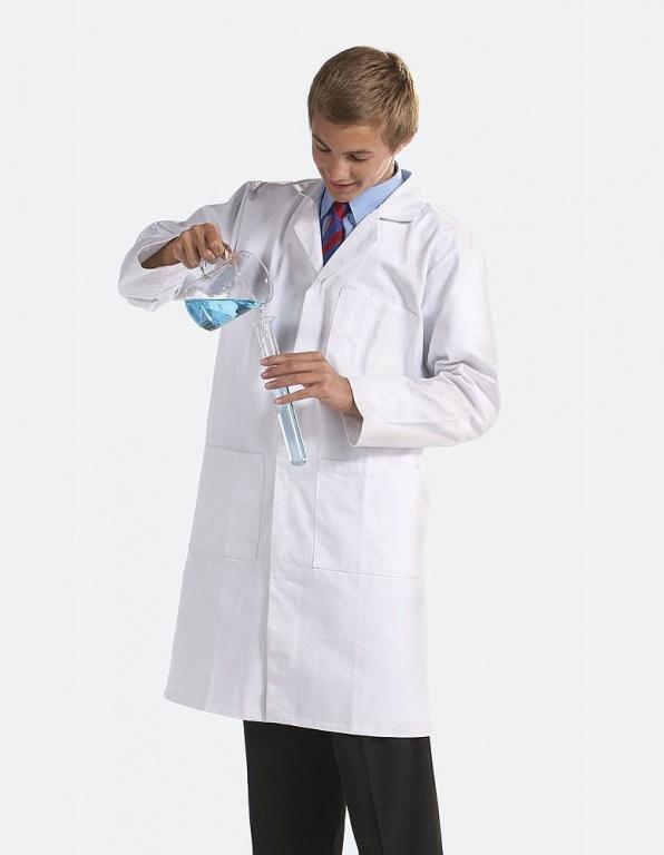 School Lab Coat | D&T Science Lab Coat | White Navy Lab ... - photo #3