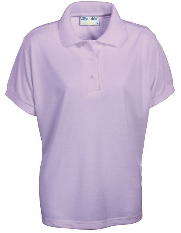School Polo Shirt Poly Cotton Girls Fitted Polo Top Ladies Polo