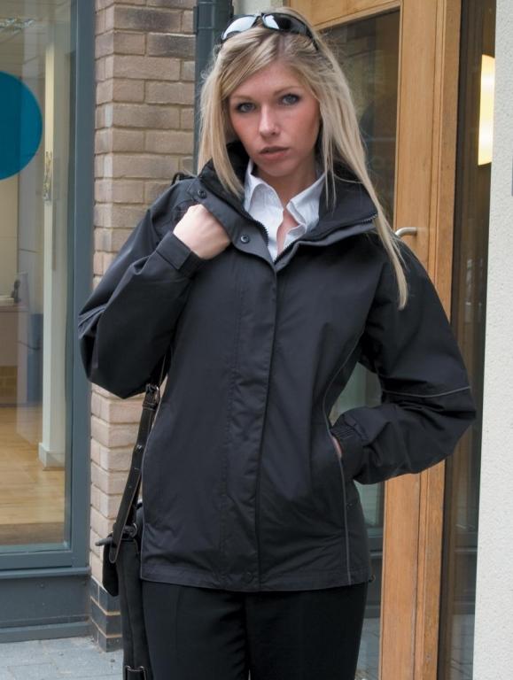 Girls black school coat-6124