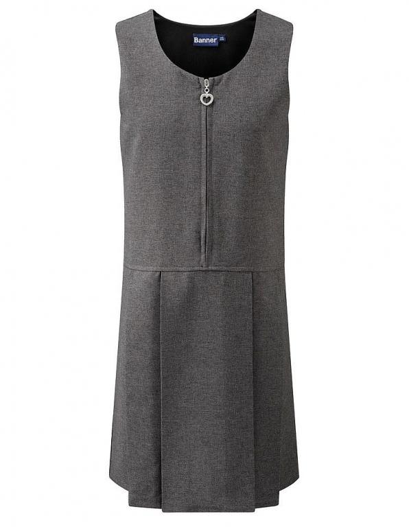 School Uniform Pinafore Dress Zip Front County