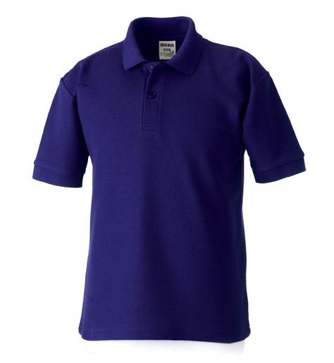 School staff polo shirt county sports and schoolwear for Purple polo uniform shirts