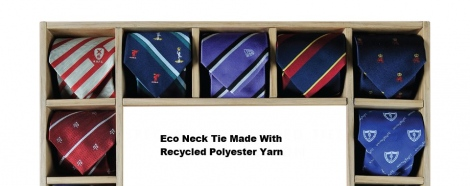 Eco Ties made from recycled polyester