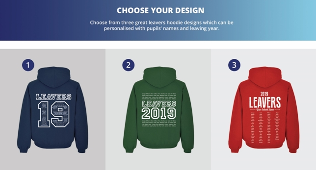 Leaver Hoodies 2019 Print Design Options