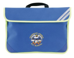 School book bag with emboidery logo and contrast hi viz trim