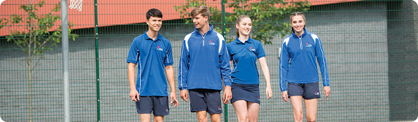 school sports tops for PE, games and team wear
