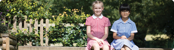 Summer school dresses gingham, pinafores tartan