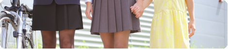 School wear uniform skirts, pinafores and summer dresses