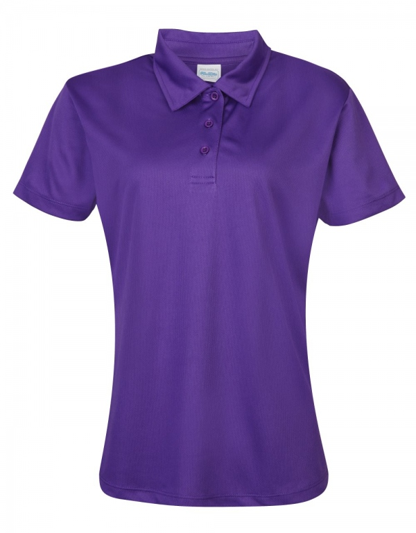 School sports cool ftted polo shirt ladies womens sports for Purple polo uniform shirts