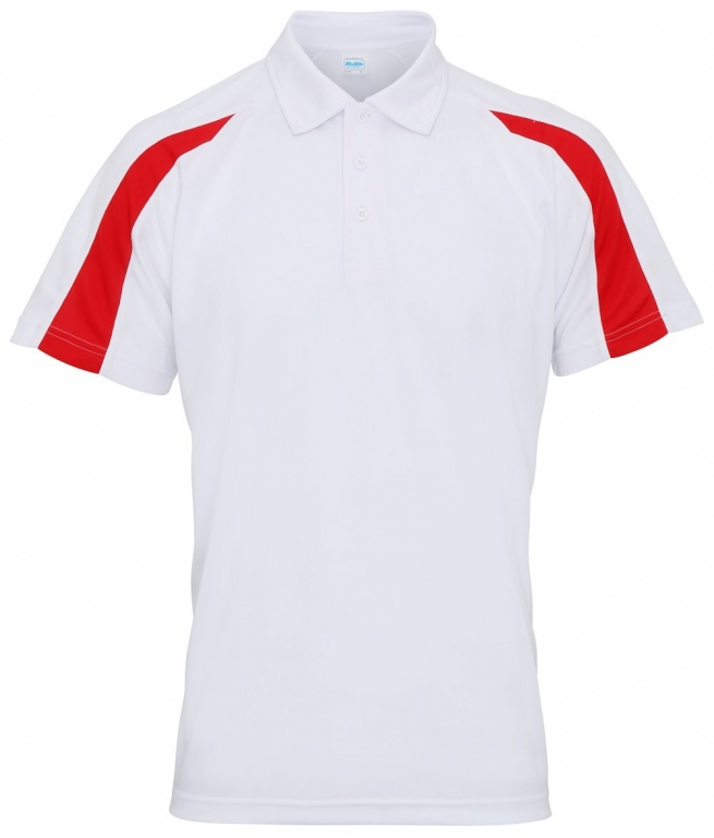 School sports cool polo shirt contrast two tone polo for Polo shirts for school