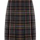 Eco school tartan skirt knife pleat - Multi Colour Tartan