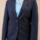 Navy Pinstripe Poly Wool Suit Girls and Ladies Sizes