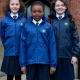 Eco school uniform lightweight dri-warm waterproof jacket, fleece lined, hood