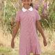 School Gingham Summer Dress Zip Front