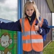 School wear hi vis waistcoat with velcro fastening and polyester bound seams