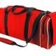 Hi vis junior holdall, large main compartment, side pocket, detachable strap