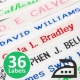 School woven iron on name tape label for securely labelling school uniform