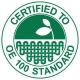 Eco school wear uniform containing organic cotton certified to OE Standard 100