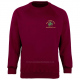 Pens Meadow School uniform crew neck badged sweatshirt