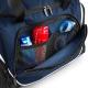 School sports or swim wear holdall bag, internal shoe tunnel / wet pocket, internal mesh pockets, bottle pocket shoulder strap