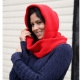 School wear snood scarf, warm acrylic versatile scarf and hood, unisex style