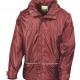School waterproof jacket with sports mesh lining in approved uniform colours