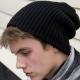 School wear double knit whistler hat, chunky soft knit, hem turn up option