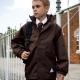 Eco school wear waterproof coat with reversible fleece school uniform jacket