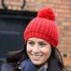 School wear chunky knit hat with huge self coloured pom pom, warm soft acrylic