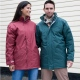 Waterproof windproof padded parka jacket, long fit, front pockets, quick drying