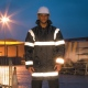 Waterproof Reflective Management Coat Jacket with Insulated Linig and Hood