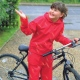 Eco school wear waterproofs include jacket and trouser with foldaway bag