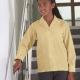School blouse long sleeve revere collar