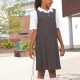 School pinafore dress, front pleat and zip fastening, fully lined bodice