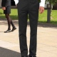Suit Trousers Slim Fit and Flat Front Style Boys and Mens' sizing in Black