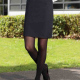 Straight Suit Skirt Hipster Girls and Ladies Sizing in Black