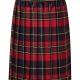 Girls junior school tartan knife pleat skirt pull on elasticated waist