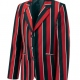 Venetian stripe school uniform blazer or jacket , made to order to your school's specifications, pocket, lining, button and vent options to suit your requirements
